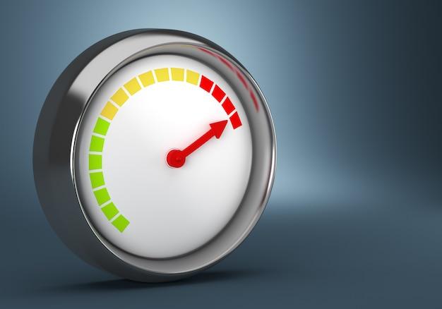 Индикатор выполнения круга на темно-синем фоне