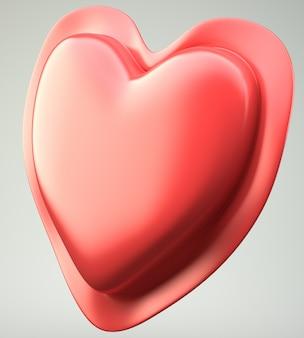 Красное абстрактное сердце на фоне