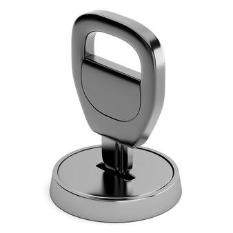 Ключ в замочной скважине на белом фоне
