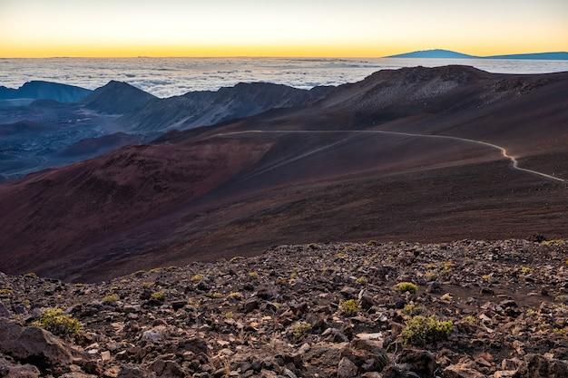 山のある自然の風景