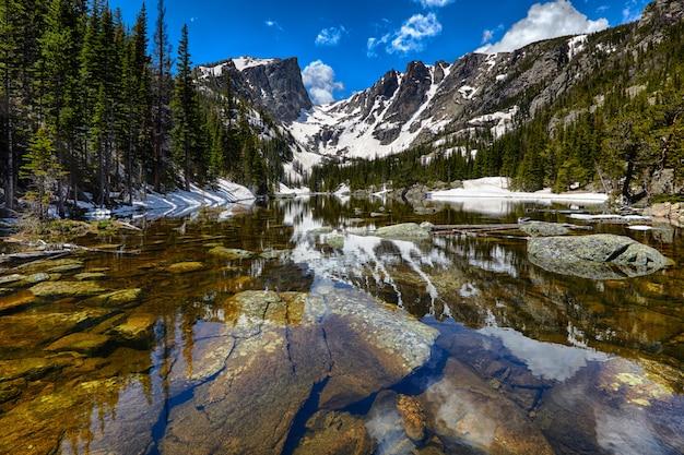 Озеро мечты в национальном парке скалистых гор