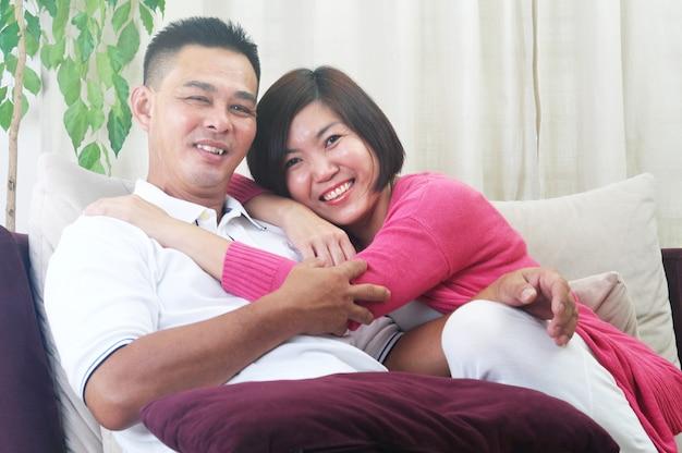 アジアの中年夫婦
