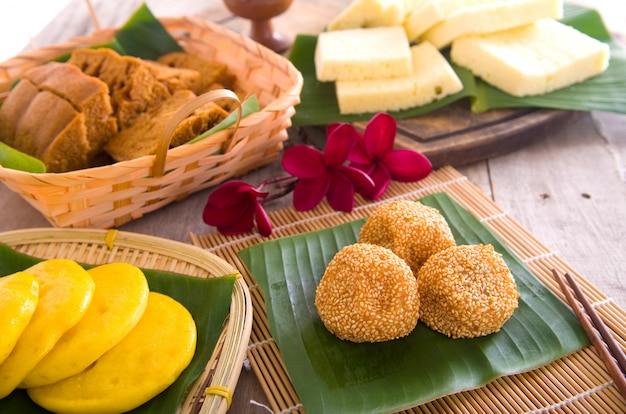 Ма лай гоу - традиционный торт на пару из малайзии. малайзия пустыня