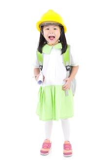 アジアの学校の女の子