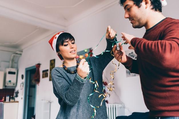 カップルラップクリスマスプレゼント
