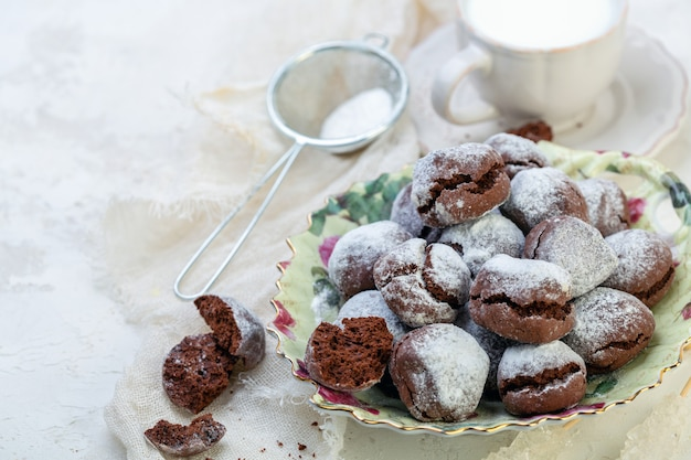 自家製チョコレートクッキー