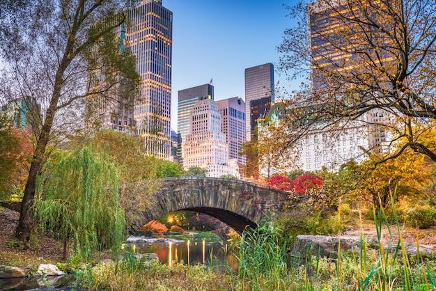 Центральный парк, нью-йорк осень