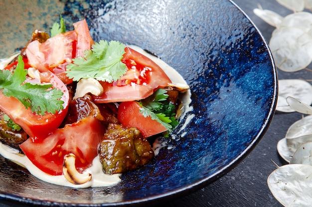 トマトと焼きナスのサラダ