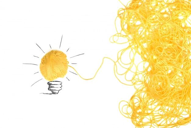 羊毛ボールのアイデアと革新のコンセプト