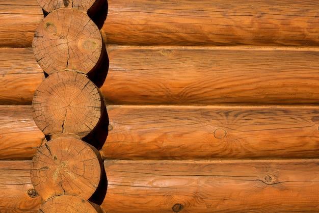水平の木の丸太からの背景