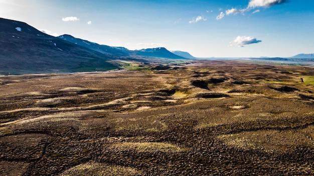 アイスランドの荒野の眺め
