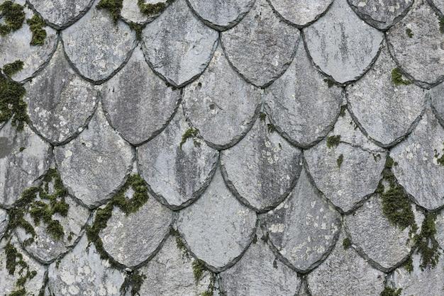 ノルウェーの頁岩の屋根のテクスチャ