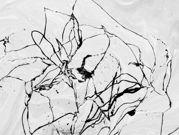 アクリルの黒い線で抽象的なモノクロデザイン