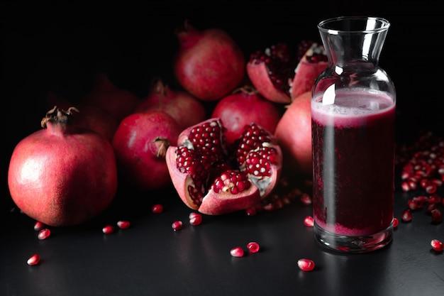 ザクロ果汁とザクロ果実