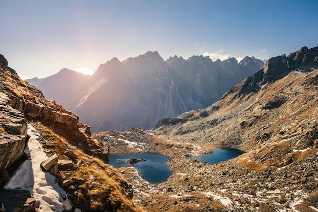冬の高タトラ山脈の風景