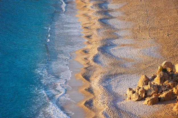 空のオルデニズビーチの空撮