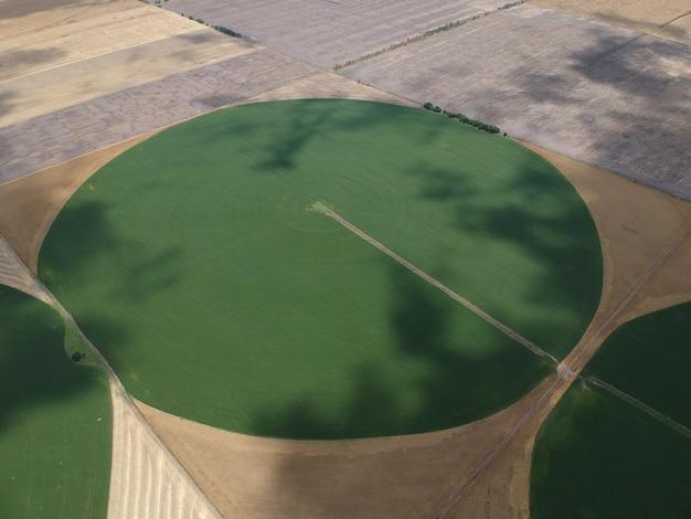 ウクライナの円形フィールドの空撮