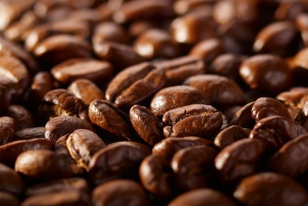 Кофе в зернах фона крупным планом
