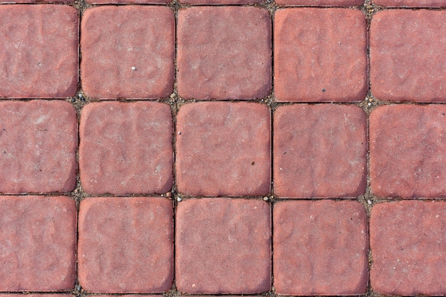 Красная бетонная плитка