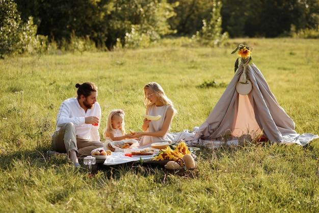 家族の夏のピクニック