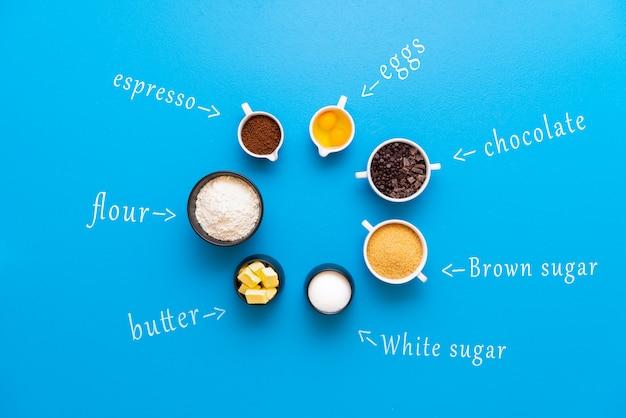 Ингредиенты шоколадного печенья