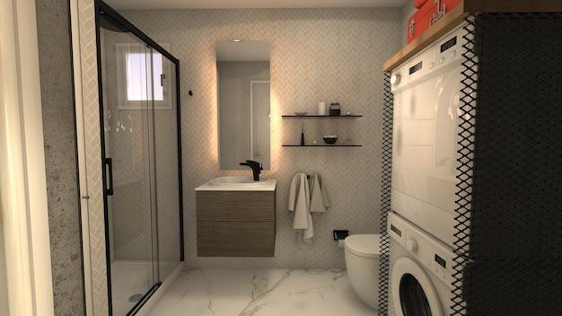 美しい小さなバスルーム