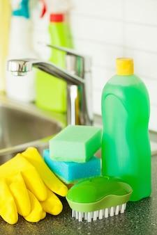 クリーニングアイテム家庭用キッチンブラシスポンジグローブ