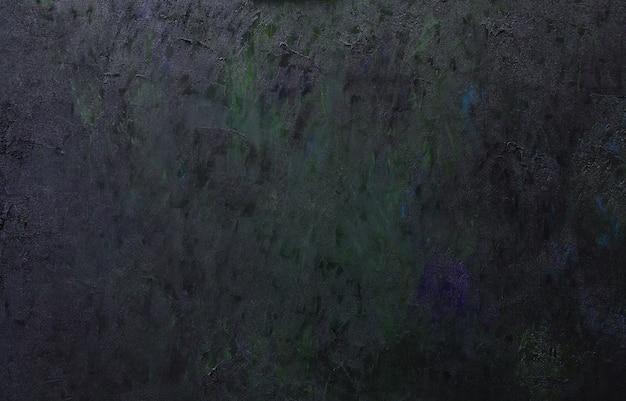 油絵の具のストロークで覆われたキャンバスの抽象的な暗い芸術的な背景。