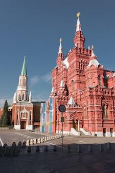 赤の広場からロシアのモスクワの歴史博物館への眺め