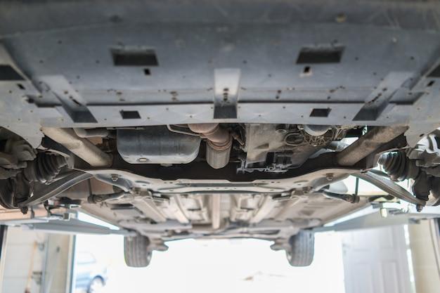 車のハブが固定されている