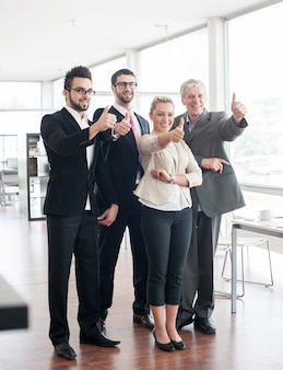 ビジネスの人々や幹部のグループの肖像画
