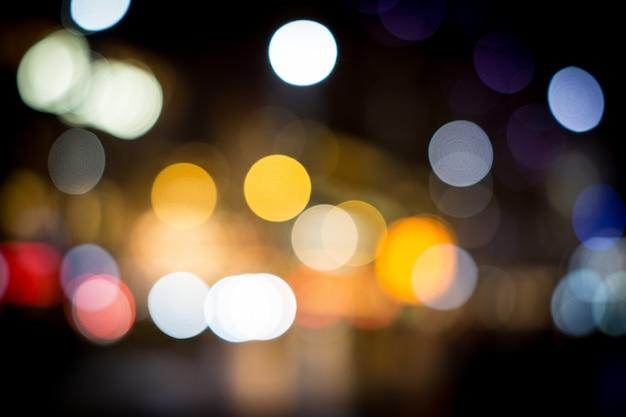 Город ночью затуманенное светофором