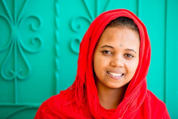 アフリカのアラビア人の女の子