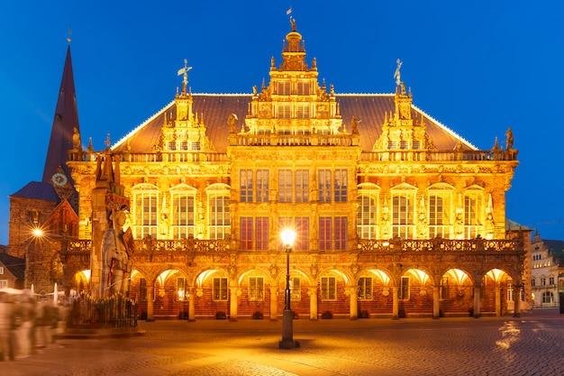 ドイツ、ブレーメンのマーケット広場にある市庁舎