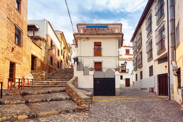 Вид на старый город, гранада, андалусия, испания