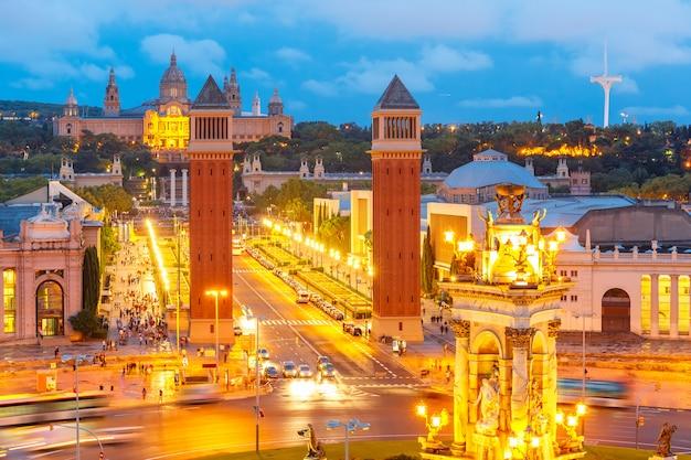 Площадь испании в барселоне, каталония, испания