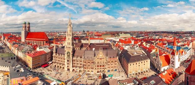 Панорамный вид на старый город, мюнхен, германия