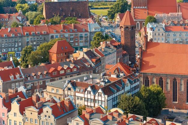 Старый город гданьск, польша