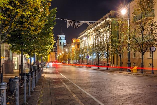 ゲディミナスの夜、ビリニュス、リトアニア