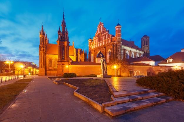 リトアニア、ビリニュスの聖アン教会。