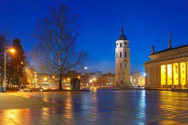 夕方にはビリニュスの大聖堂広場。