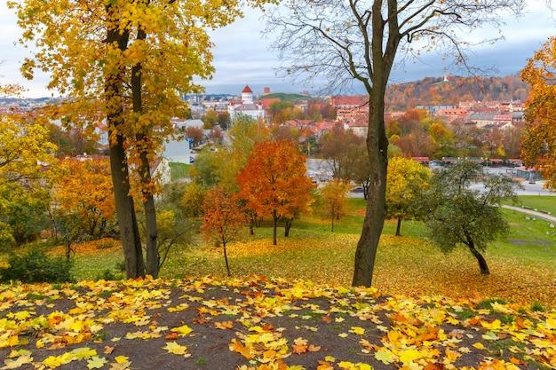リトアニアのビリニュスの秋の旧市街。