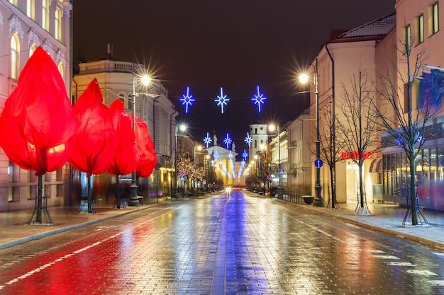 クリスマスゲディミナスの展望、ビリニュス、リトアニア