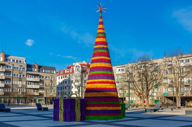 ヴロツワフ、ポーランドのクリスマスツリー