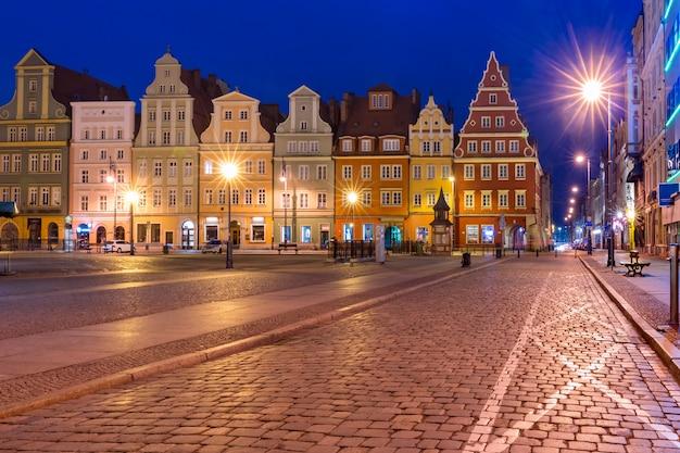 ヴロツワフ、ポーランドのマーケット広場