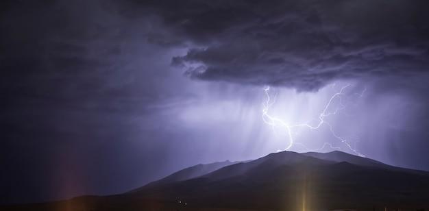 山を雷します。