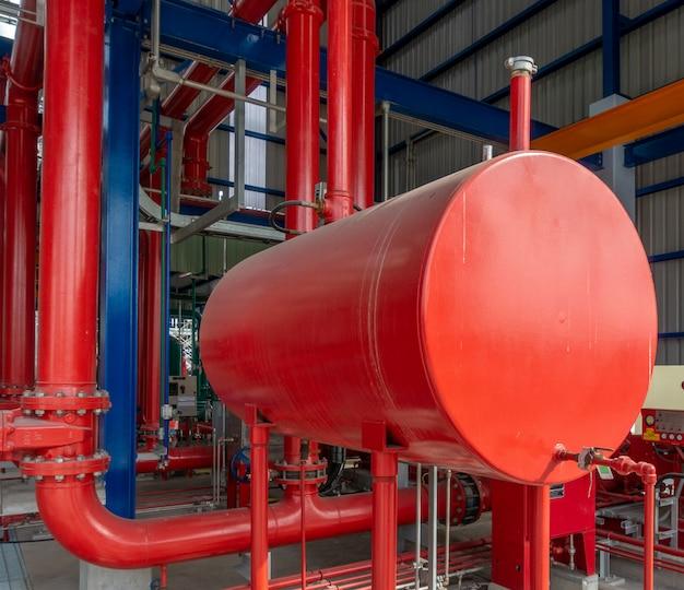 工業地帯の消防ポンプ用ディーゼル発電機