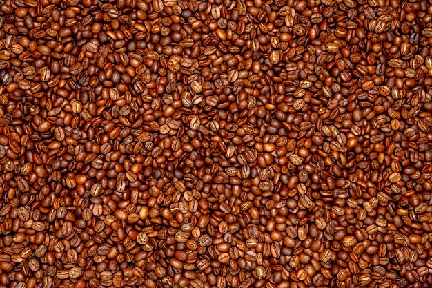 Фон жареных кофейных зерен