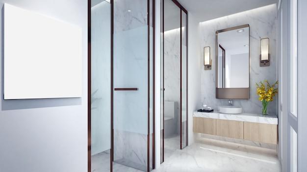 Современный дизайн интерьера ванной комнаты и туалета