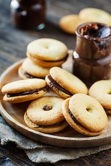 チョコレートと自家製クッキー